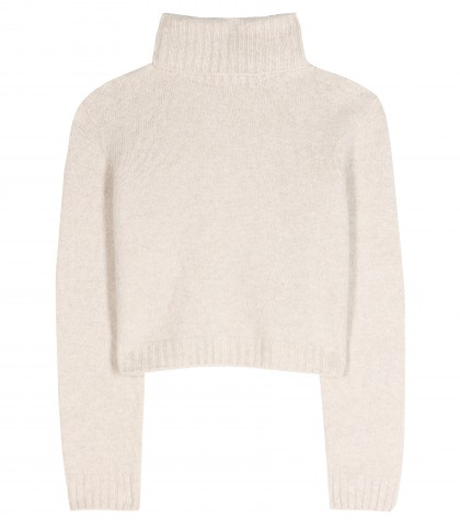 mytheresa.com -  Nenette wool and cashmere-blend cropped sweater  - Turtlenecks - Knitwear - Clothing - Luxury Fashion for Women / Designer clothing, shoes, bags