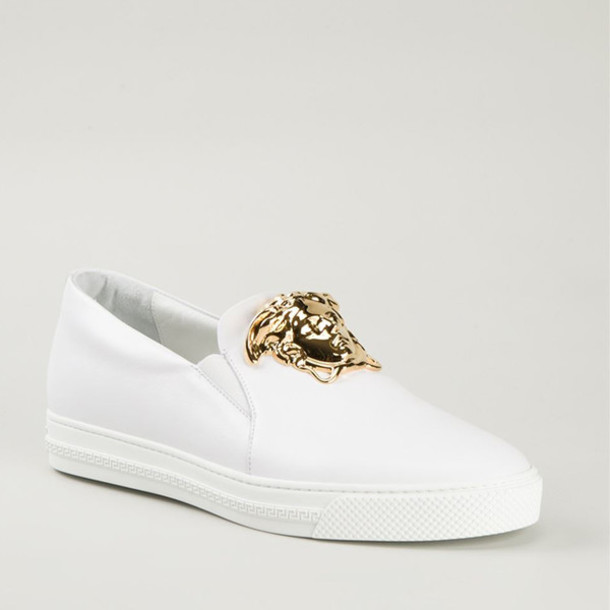 shoes, versace slip-on-sneakers mit