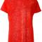 Iro - perforated trim sweatshirt - women - linen/flax - xs, red, linen/flax