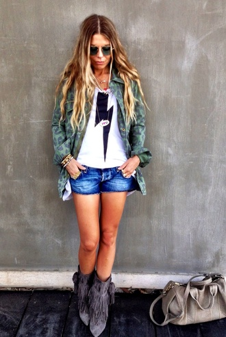 shirt ombre cute girly grunge t-shirt shorts shoes coat leopard print camo jacket camouflage camo military rock jean shorts. short shorts. blue lightning bolt