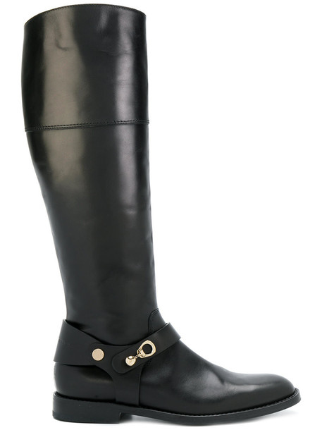Ermanno Scervino high women knee high knee high boots leather black shoes