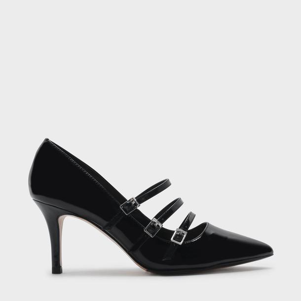 triple pumps black shoes