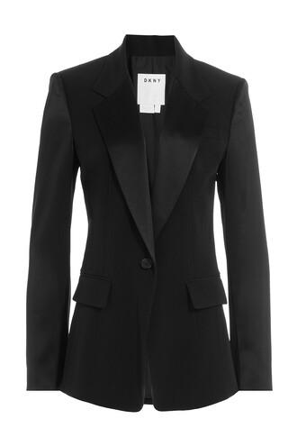 blazer satin black jacket
