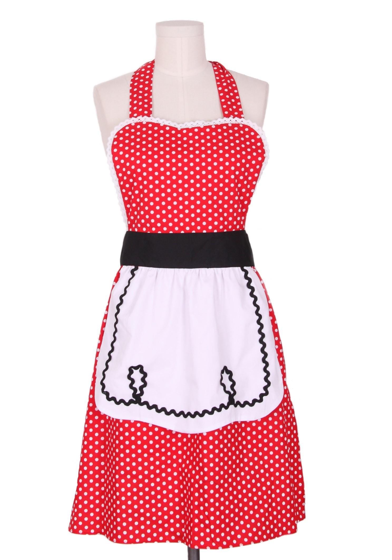 Beautiful Betty Baker 50s Polka dots housewife Dress | ReoRia