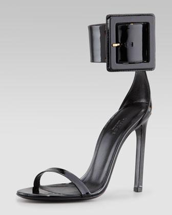 Gucci Victoire Buckle Sandal - Neiman Marcus