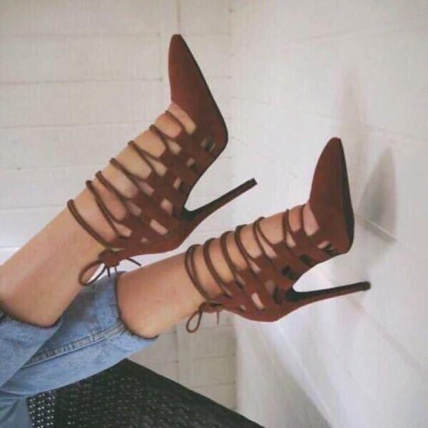 shoes Aquazzura pumps heels stripes blouse high heels