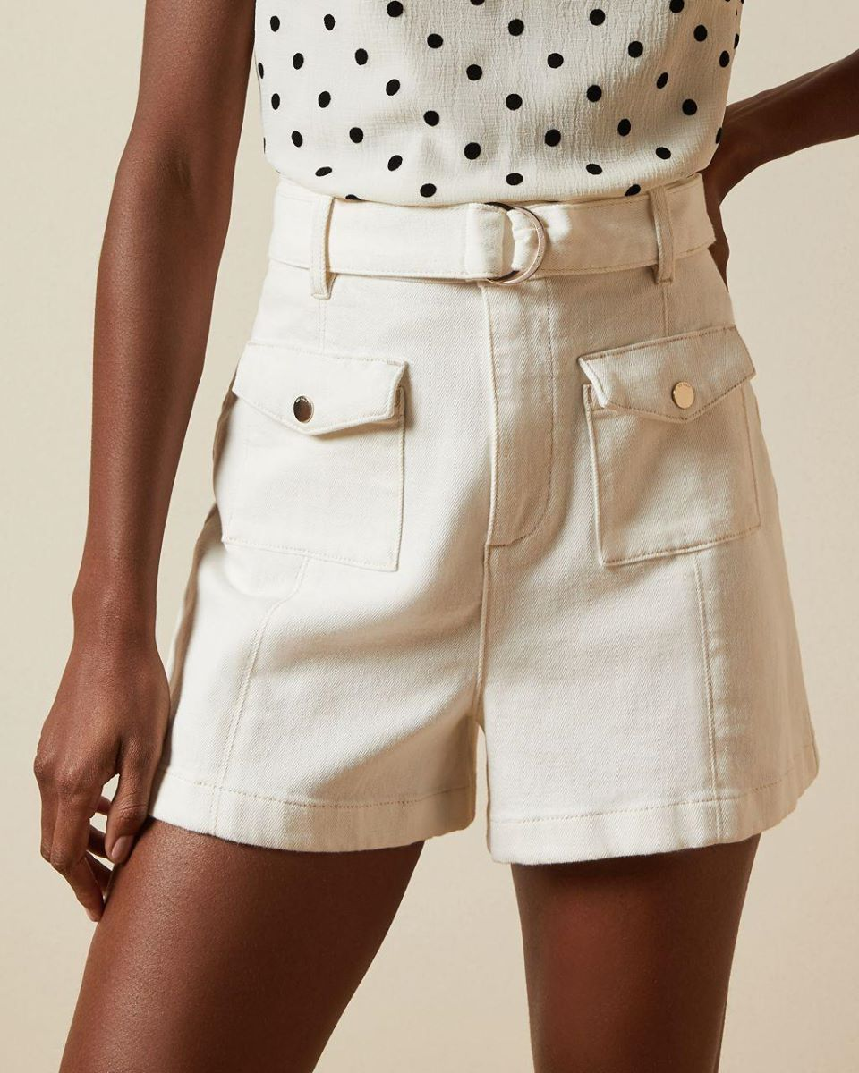 D Ring Patch Pocket Shorts