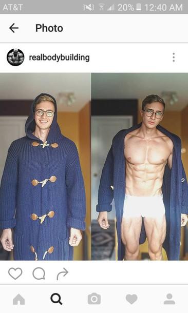 coat oversized not the guy sweater blue sweater oversized cardigan