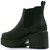 LADIES MID HEEL PULL ON CLEATED SOLE CHUNKY PLATFORM CHELSEA ANKLE BOOTS SHOES
