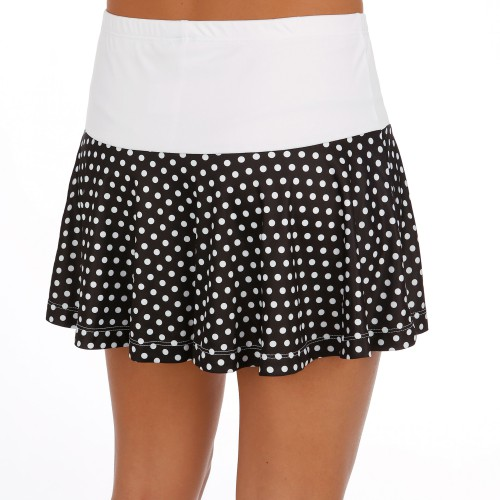 Tennis-Point.co.uk | Limited Sports Skort Fantasia Dots Women white/black | buy online at Tennis-Point.co.uk