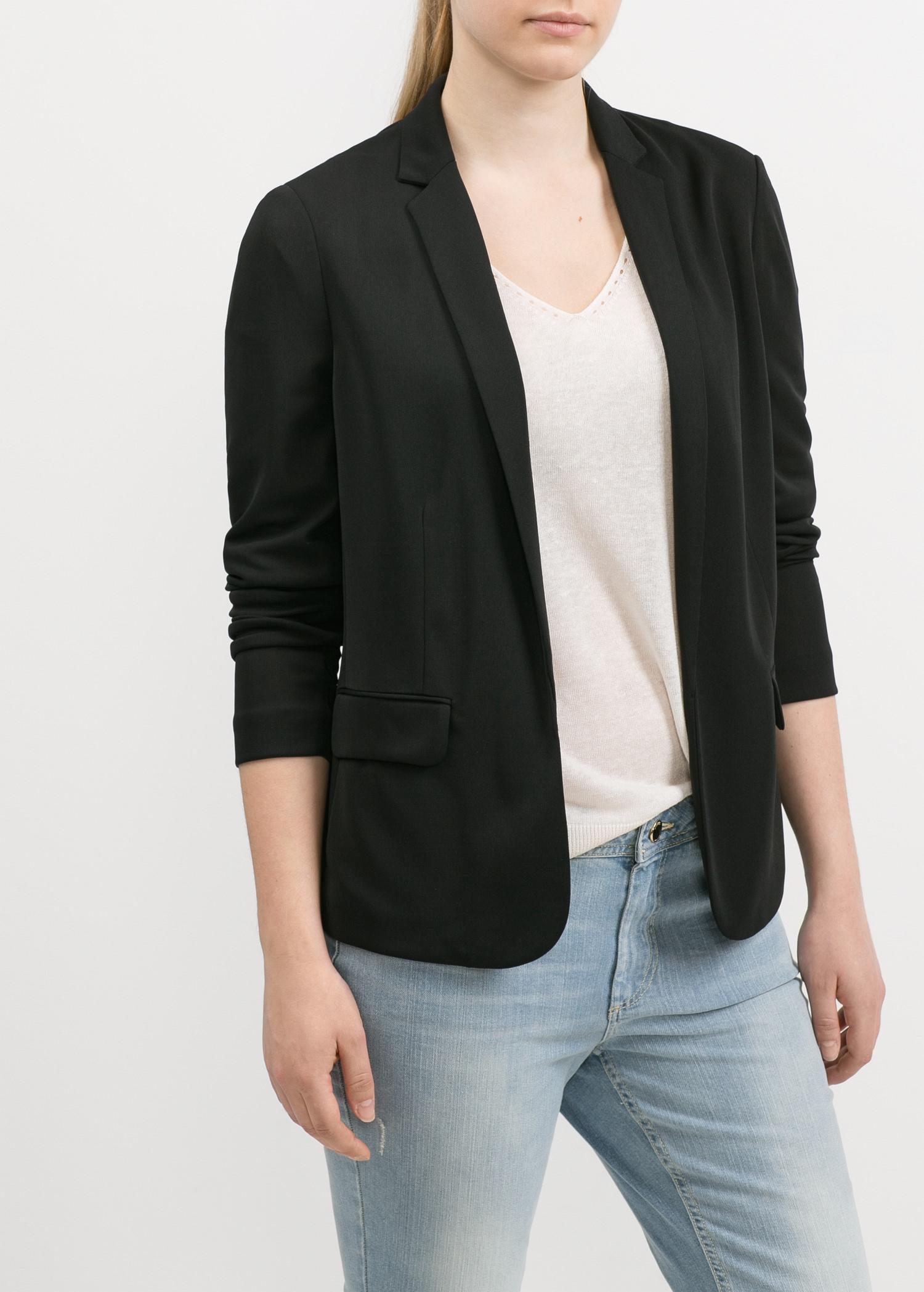 Flowy blazer - T-shirts and tops for Women | MANGO