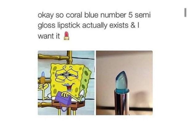 lipstick spongebob
