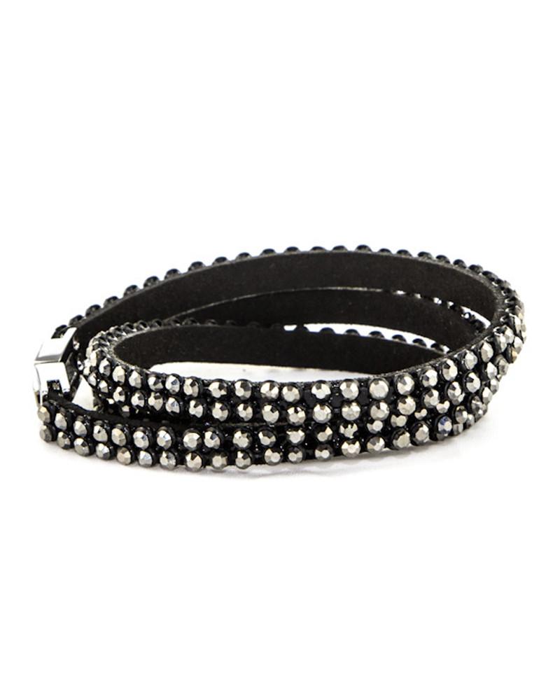 Ashton Crystal Studded Wrap Bracelet