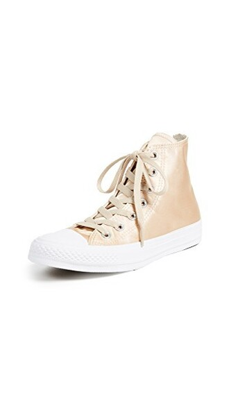 high sneakers satin white shoes