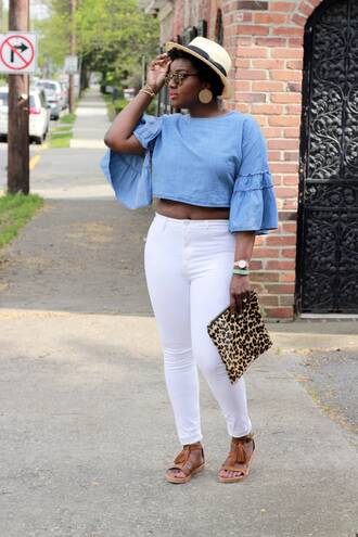 c's evolution of style - a fashion + lifestyle blog by chioma brown blogger top jeans shoes bag hat sunglasses jewels make-up