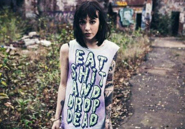 shirt tank top muscle tee quote on it eat shit and drop dead green black purple