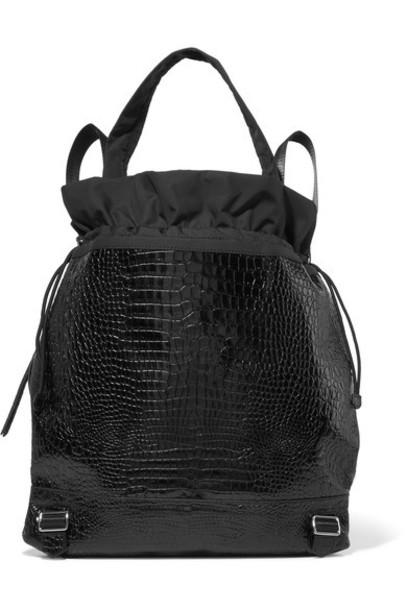 Elizabeth and James shell backpack leather black bag