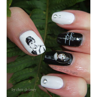 audrey hepburn audrey nail accessories nail polish nail art manicure pedicure decoration stickers diy nails decals