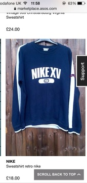 sweater,nike sweater,navy