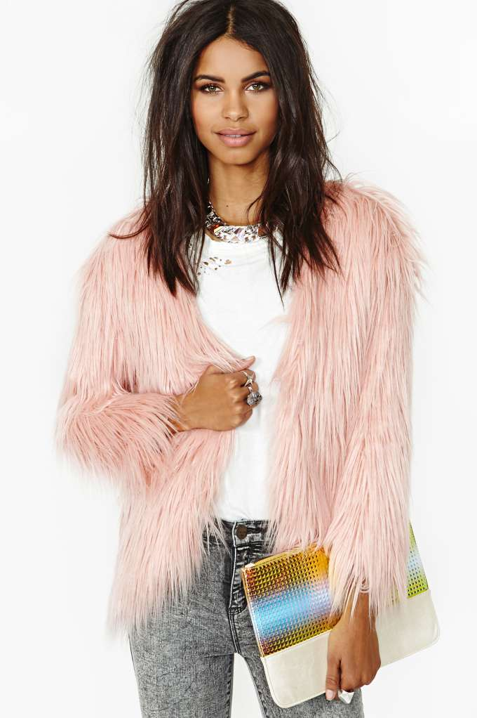 Fairy Floss Faux Fur Coat in  Clothes at Nasty Gal