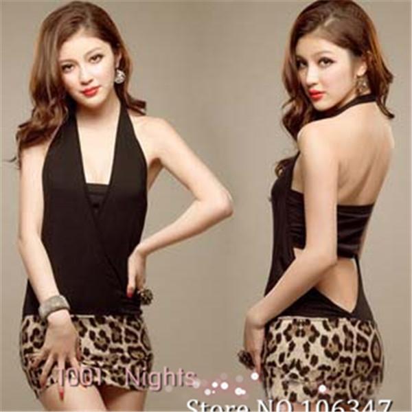 One Size Leopard Sexy Lingerie Hot Sleeveless Slim Bodycon Pole Club Dancing Sexy Brief Dresses Costume Porn Sleepwear ZCJ3 | Amazing Shoes UK