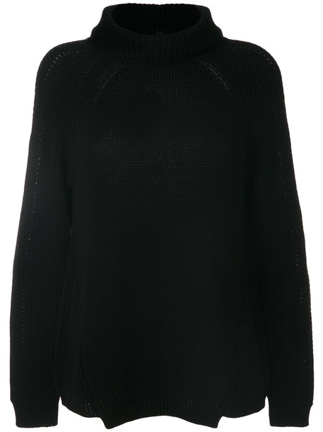 Blugirl sweater knitted sweater women black wool