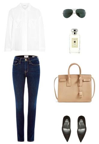 krystal schlegel blogger shirt jeans bag shoes