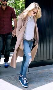 shoes,cara delevingne,long coat,camel coat,wool coat