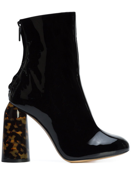 ellery high women boots leather black shoes