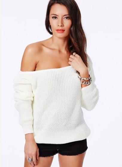 Krista one shoulder blue sweater · fashion struck · online store powered by storenvy