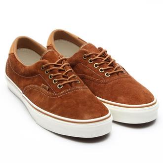 shoes suede camel cognac sneakers leather vans