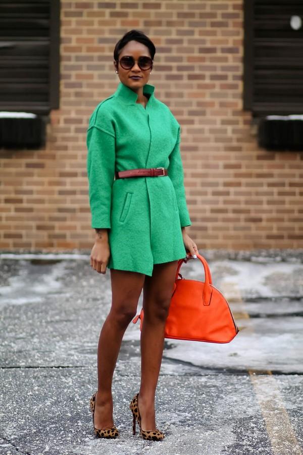 the daileigh coat belt shoes bag sunglasses nail polish
