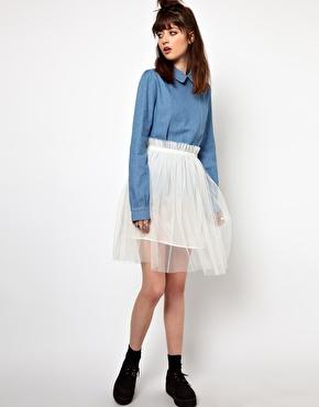 The WhitePepper | The WhitePepper Tulle Skirt at ASOS