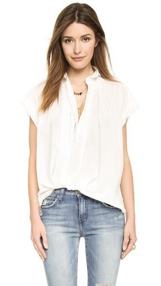 blouse short white top