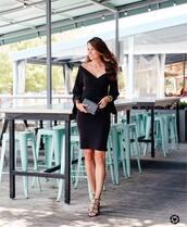dress,tumblr,midi dress,black midi dress,black dress,bell sleeves,bell sleeve dress,sandals,sandal heels,high heel sandals,black sandals,bag,black bag,shoes