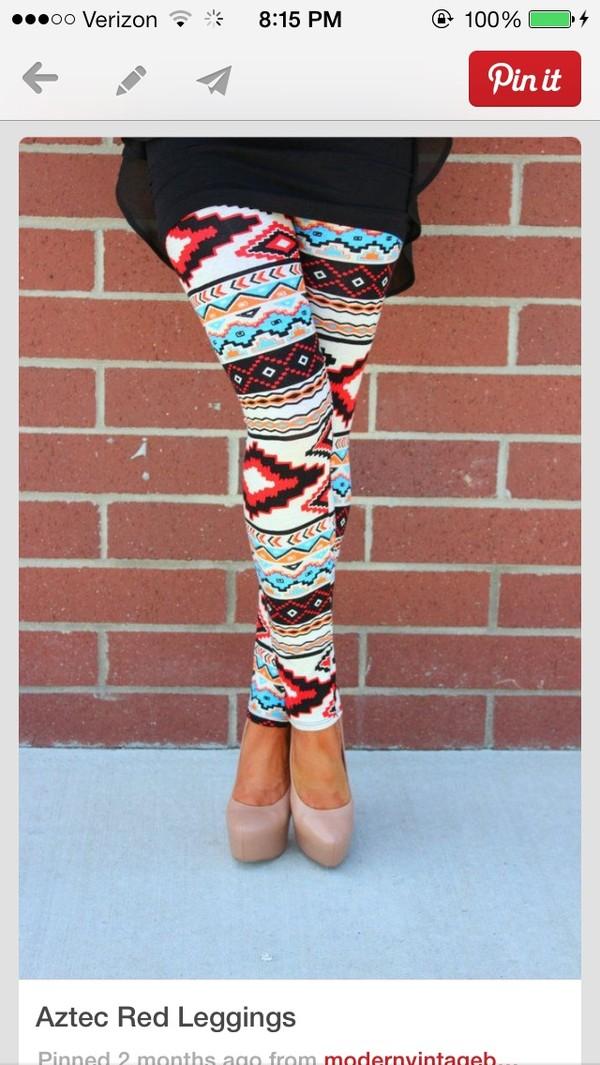 pants leggings aztec leggings shoes