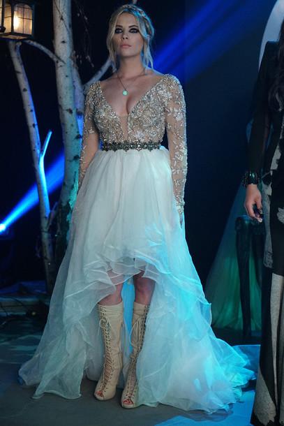 dress, lace, gold, lace dress, long sleeves, long dress