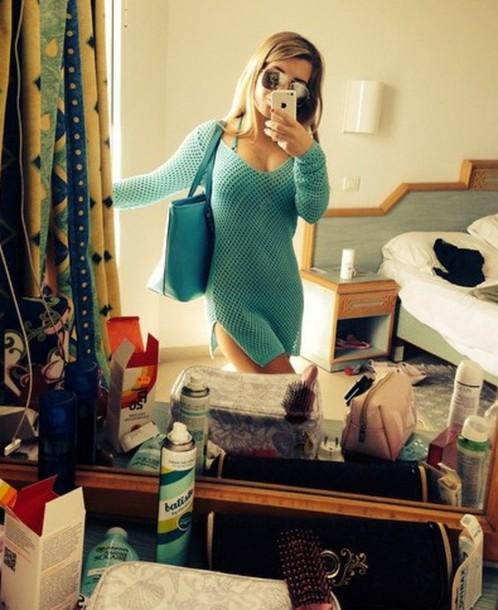 swimwear beach cover up girly blue sweater