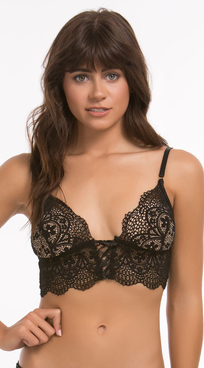 Yandy's Lana Lace Bralette and Panty Set