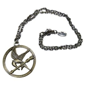 "Amazon.com: the hunger games movie necklace single chain ""mocking jay"": toys & games"