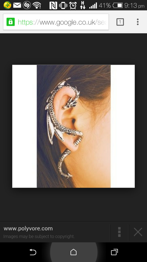 jewels dragon earrings ear cuff silver ear wraps piercing