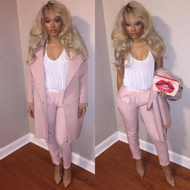 jacket jeans clothes pink white cute sexy jumpsuit woman suit suit