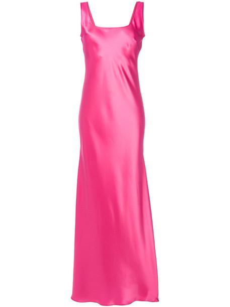 Alberta Ferretti long gown gown long women silk purple pink dress