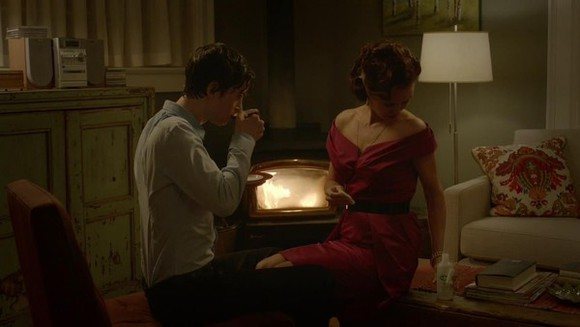 tv show dress red red dress bates motel tulip dress
