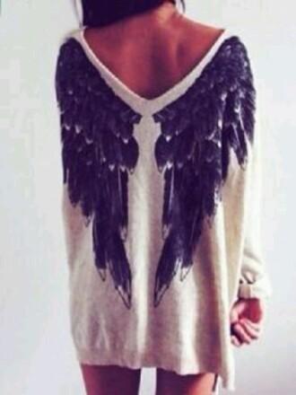 sweater angel wings sweatshirt