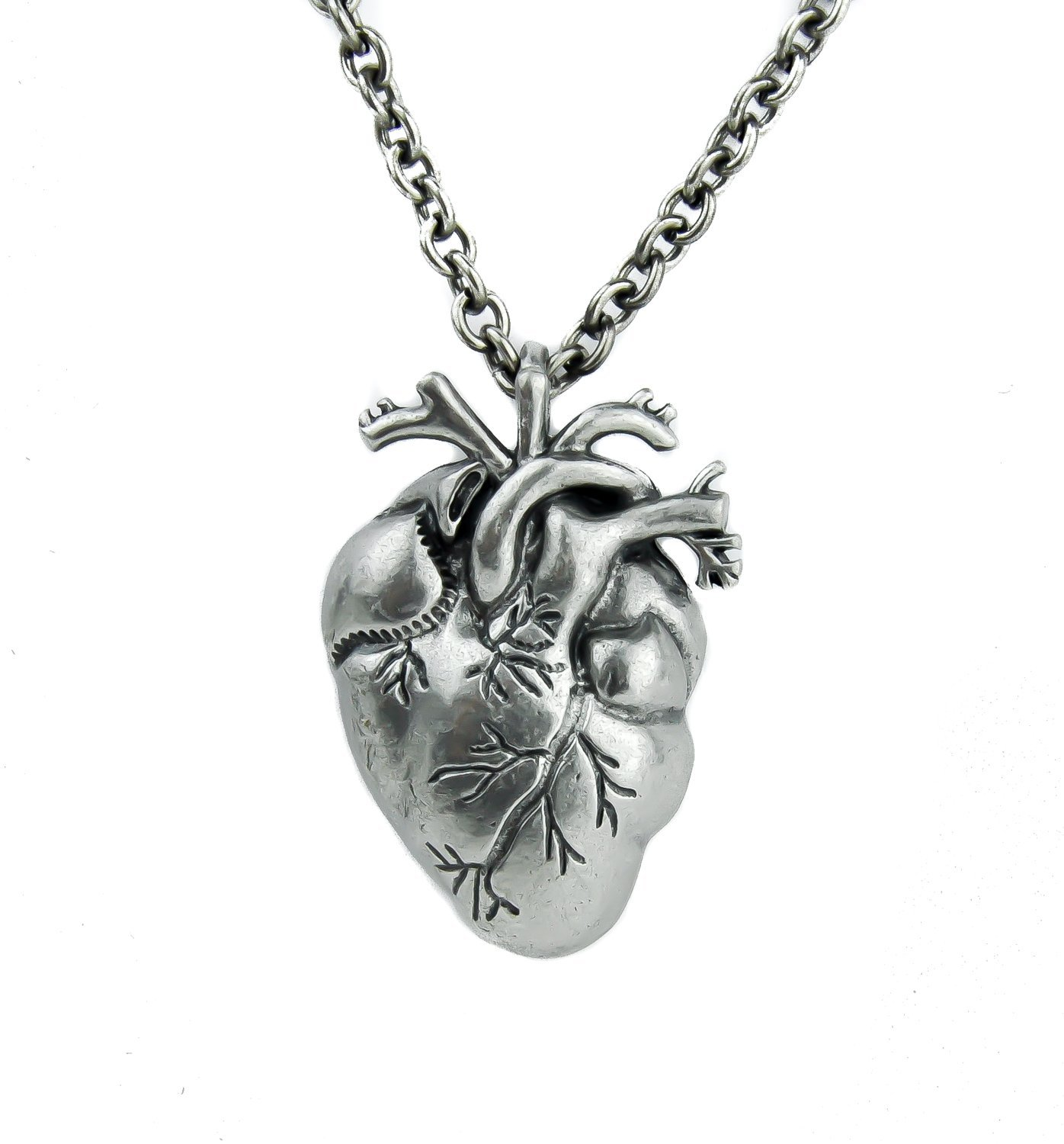 black heart vampire necklace anatomical zombie On jewelry on amazon real