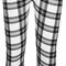 Minerva monochrome tartan print leggings