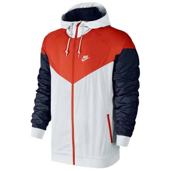 9687782dc69a Nike WindRunner Giacca Running Uomo - White Navy Red