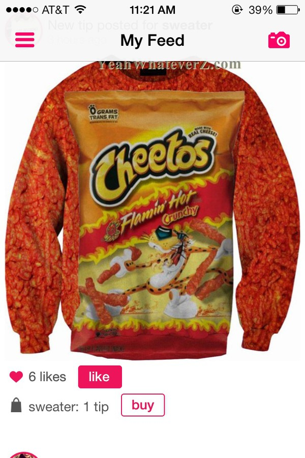 Flaming Hot Cheetos 1080p Hd Crewneck Sweater Sweatshirt