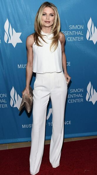 pants white white top annalynne mccord